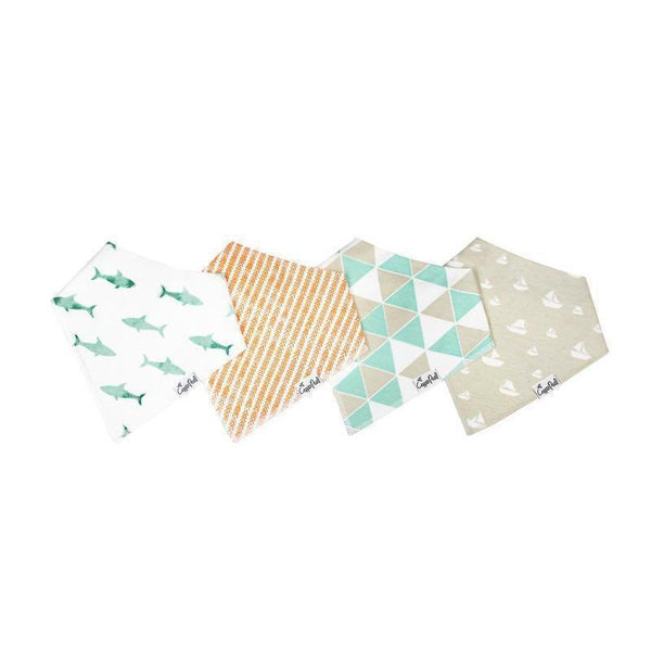 Baby Bandana Bibs in Pacific Set by Copper Pearl