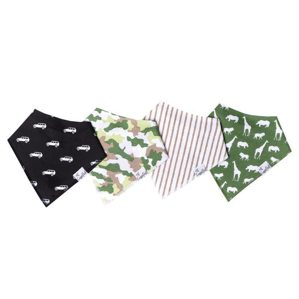 Baby Bandana Bibs in Safari Set
