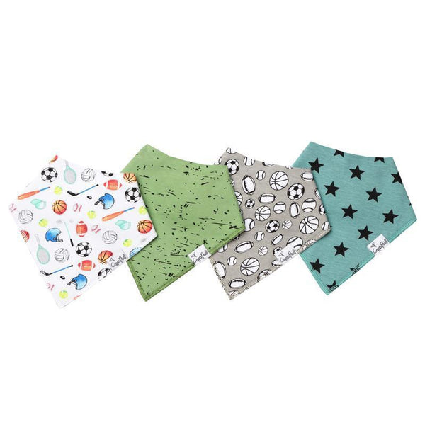 Baby Bandana Bibs in Varsity Set by Copper Pearl