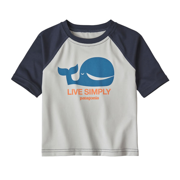 Baby Capilene Silkweight T-Shirt in Live Simply Whale: Tailored Grey by Patagonia