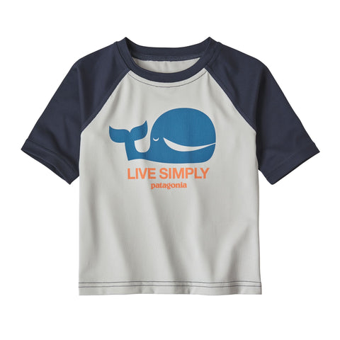 Baby Capilene Silkweight T-Shirt in Live Simply Whale: Tailored Grey