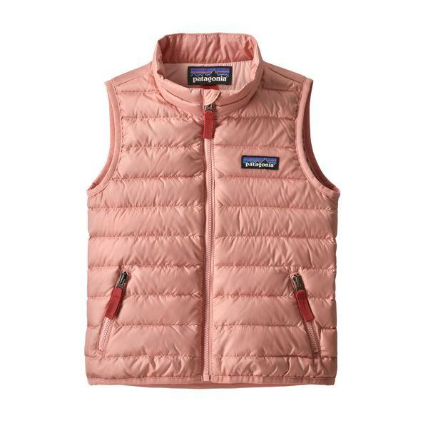 Baby Down Sweater Vest in Mineral Pink by Patagonia