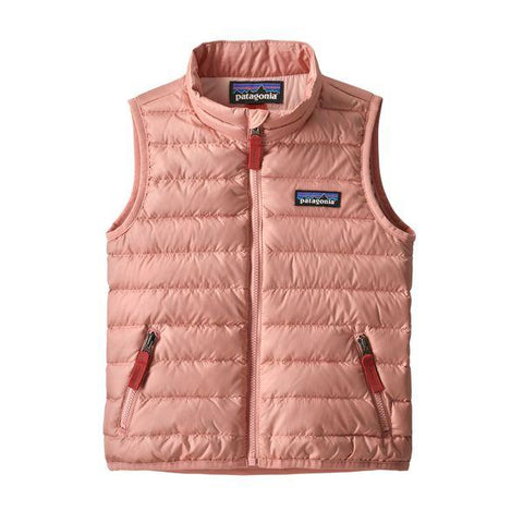 Baby Down Sweater Vest in Mineral Pink
