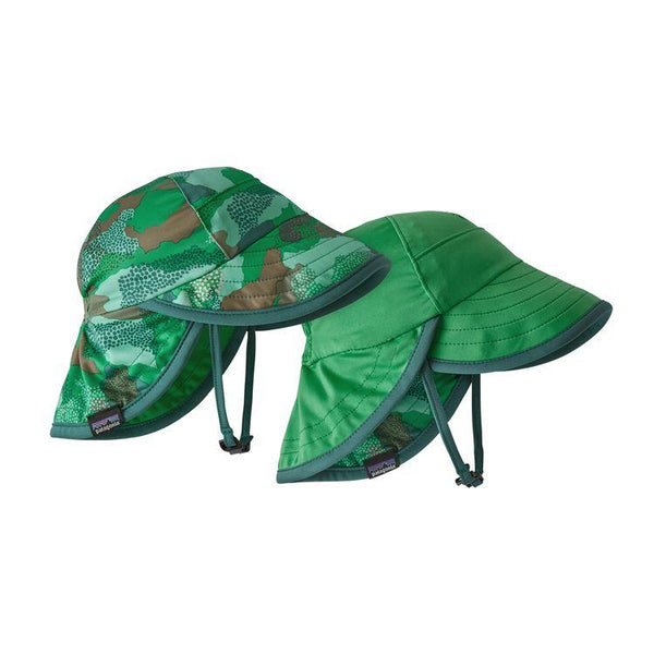 Baby Reversible Cap in Myrtle Bark Camo Vjosa Green (MBVG) by Patagonia