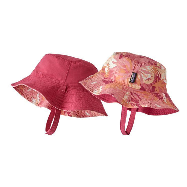 Baby Sun Bucket Hat in Wild Waratah: Petra Pink (WIPP) by Patagonia