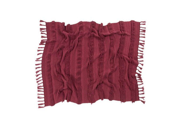 Knitted Blanket in Air Savannah Red by Lorena Canals