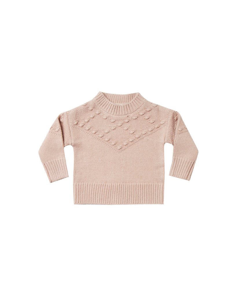 Bobble Sweater in Rose by Rylee + Cru