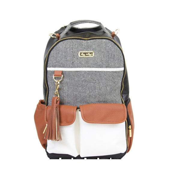 Boss Backpack in Coffee and Cream by Itzy Ritzy