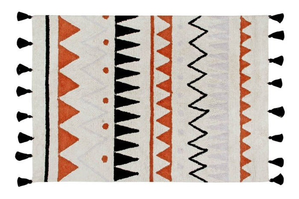 Washable Rug Azteca Natural Vintage in Terracota by Lorena Canals