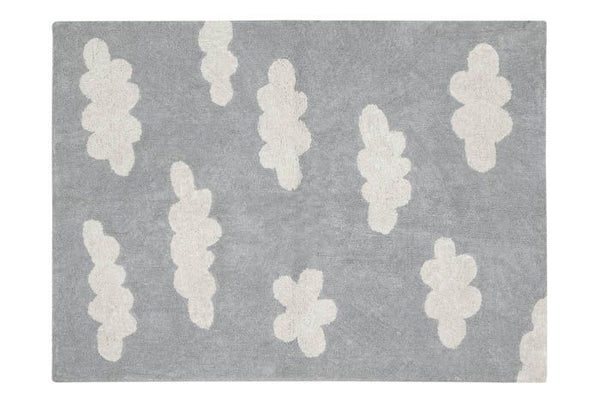Washable Rug in Clouds Grey by Lorena Canals