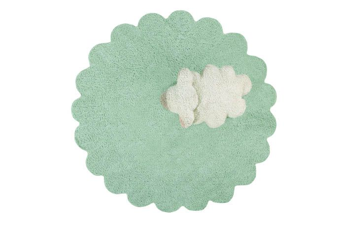 Washable Rug in Puffy Sheep by Lorena Canals