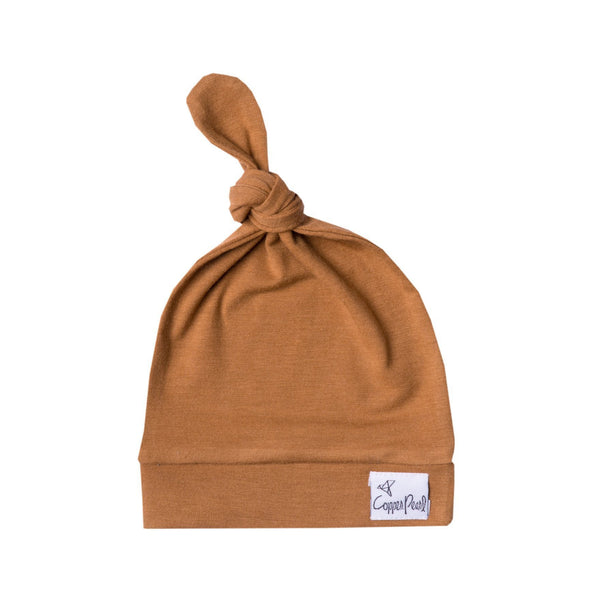 Top Knot Hat in Camel by Copper Pearl