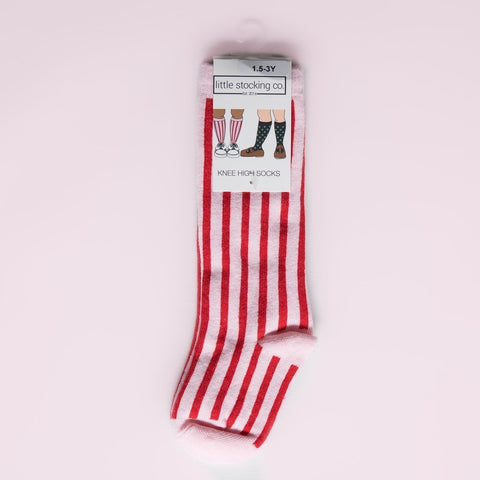 Candy Stripe Knee High Socks