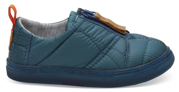 Stellar Blue Quilted Tiny Lenny Sneakers