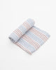 Cotton Muslin Single In Stitch Stripes by Little Unicorn