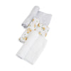 Cotton Muslin Swaddle 3 Pack in Yellow Rose by Little Unicorn