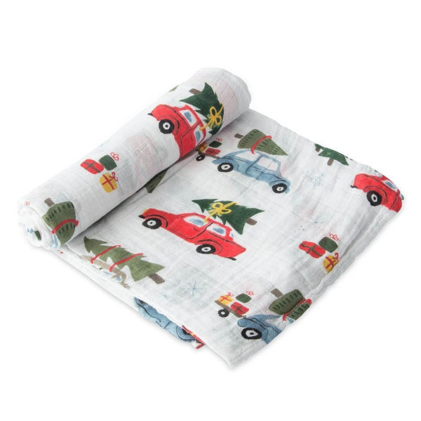 Cotton Muslin Swaddle Single in Holiday Haul by Little Unicorn