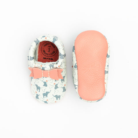 Bow Moccasins in Elephant Fun by Freshly Picked