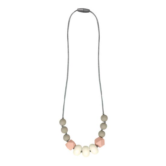 Teething Necklace in Blush by Itzy Ritzy