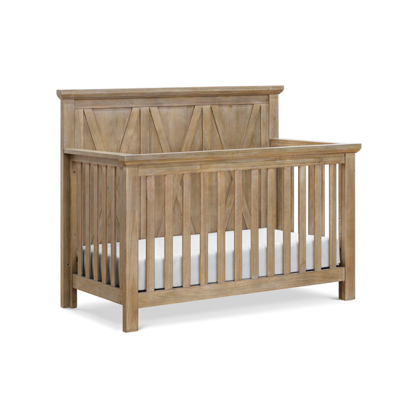 Emory Farmhouse 4-in-1 Convertible Crib in Driftwood