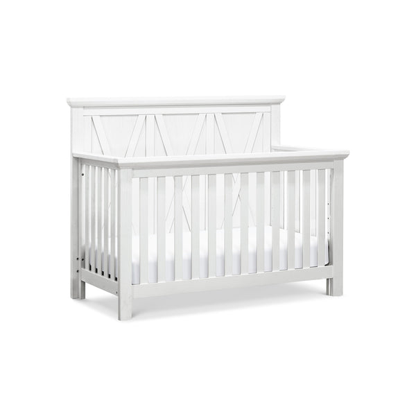 Emory Farmhouse 4-in-1 Convertible Crib in Linen White