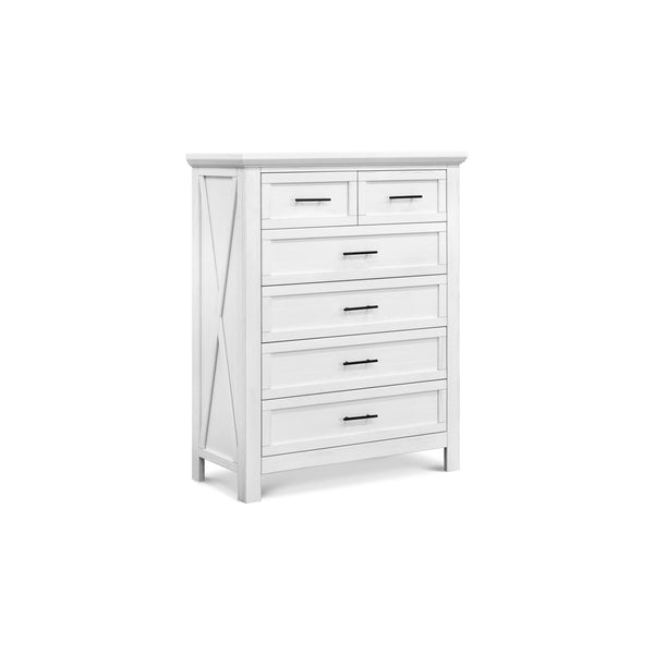 Emory Farmhouse 6-Drawer Chest in Linen White