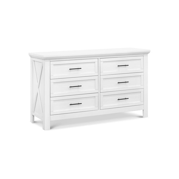 Emory Farmhouse 6-Drawer Dresser in Linen White