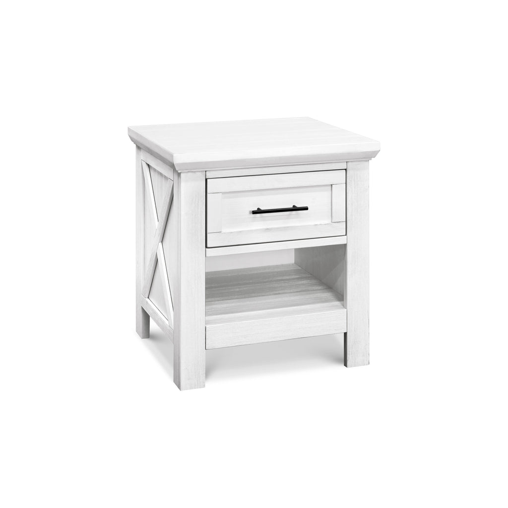 Emory Farmhouse Nightstand in Linen White