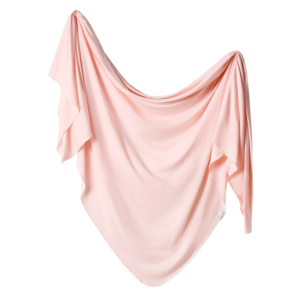 Knit Swaddle Blanket in Blush by Copper Pearl