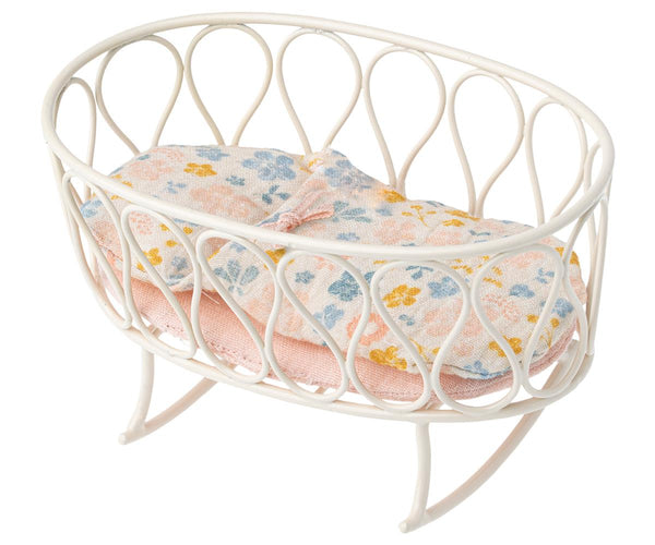 Cradle With Sleeping Bag in Micro Off-White by Maileg