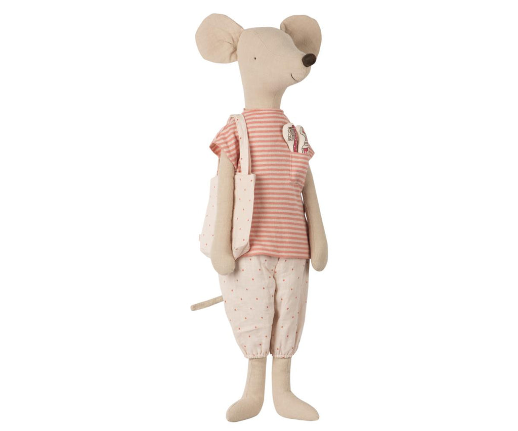 Nightwear With Toothbrush Set Mega Mouse in Rose by Maileg