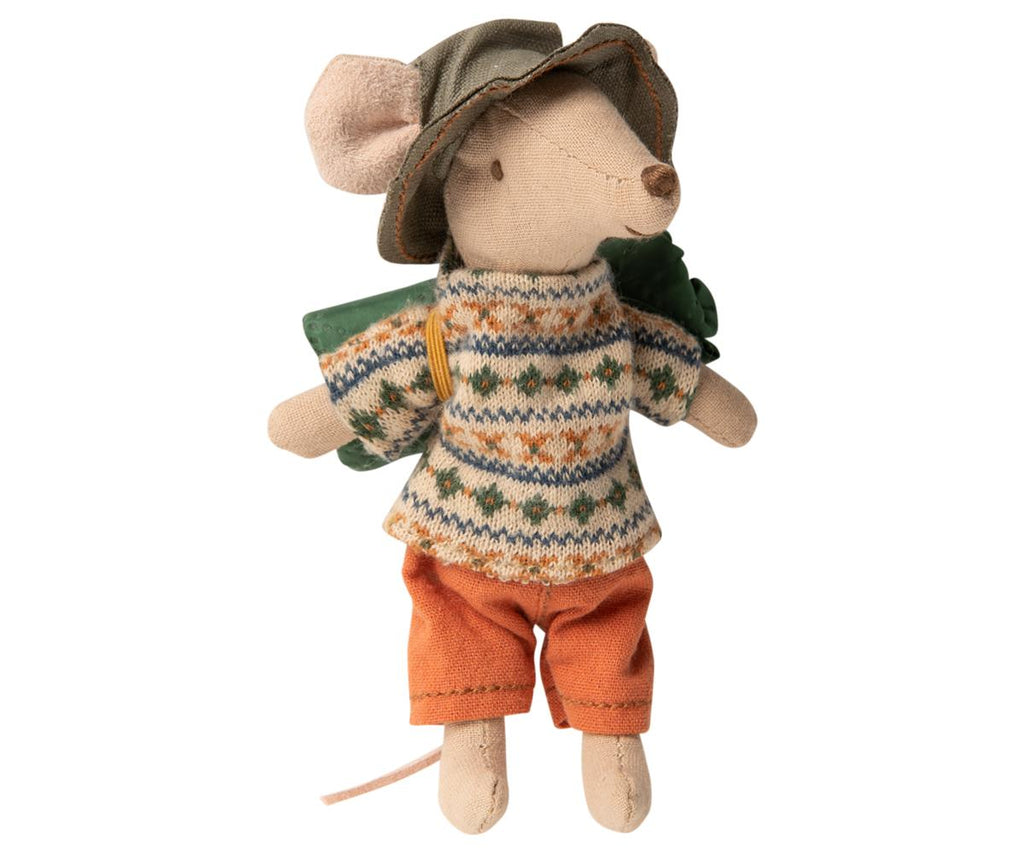Hiking Mouse Big Brother in Knit Sweater by Maileg