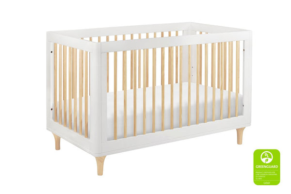 Lolly 3 In 1 Convertible Crib with Toddler Bed Conversion Kit Available in a Variety of Colors