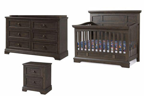 Highland Park 3-pc Nursery Set in Charcoal