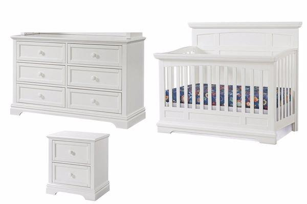 Highland Park 3-pc Nursery Set in White