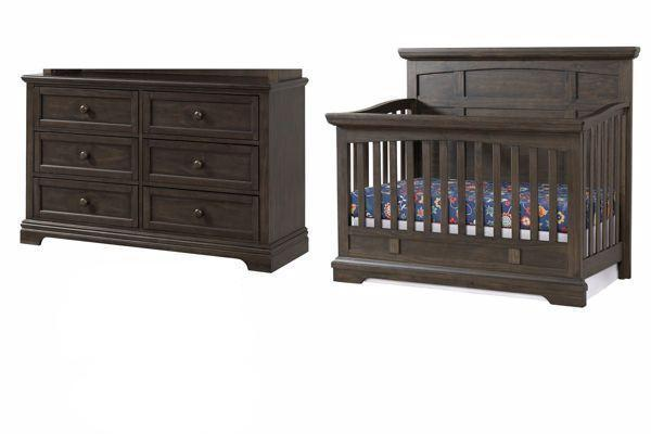 Highland Park Crib and Dresser Package in Charcoal