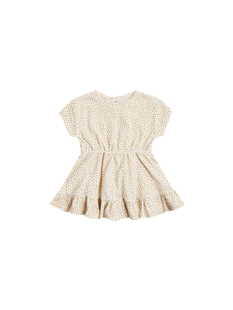 Terry Dress in Ivory by Quincy Mae