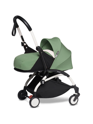 BABYZEN YOYO² Complete Stroller with Newborn Color Pack Fabric Set in Mint with White Frame