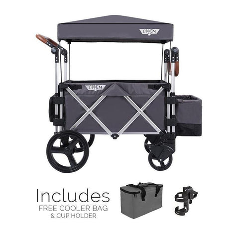 KeenZ 7S Premium Stroller Wagon in Grey