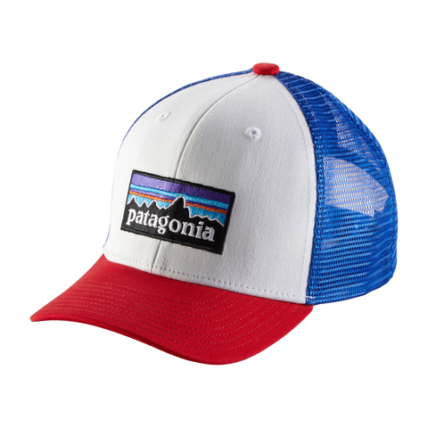 Kids Trucker Hat in Patagonia Logo White
