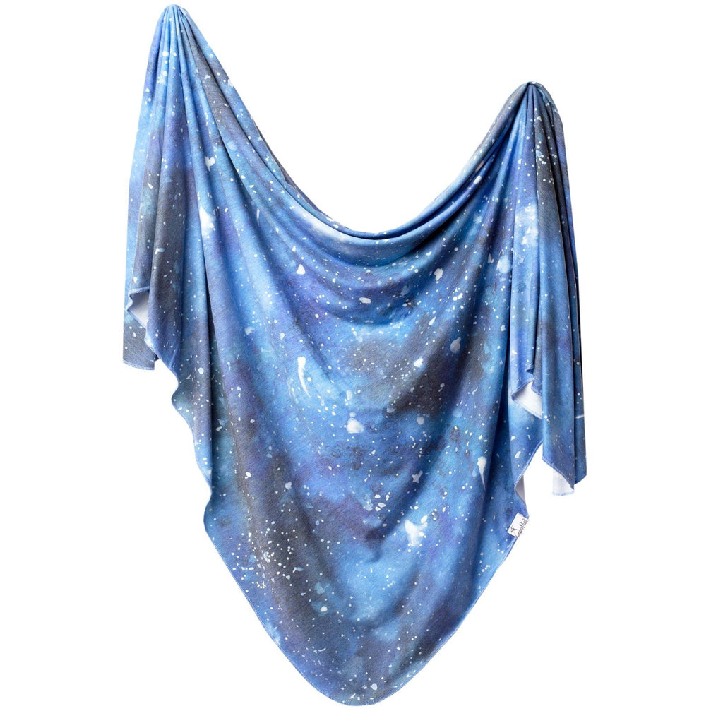Knit Swaddle Blanket in Galaxy by Copper Pearl