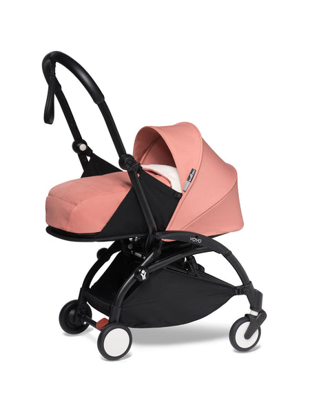 BABYZEN YOYO² Complete Stroller with Newborn Color Pack Fabric Set in Ginger with Black Frame