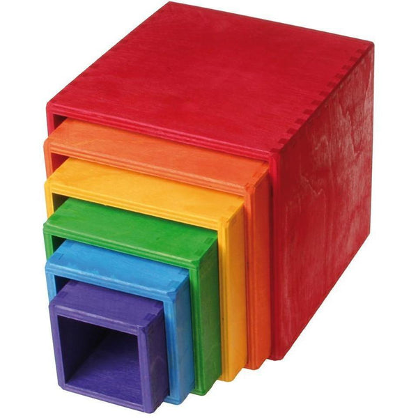 Large Set of Boxes in Rainbow