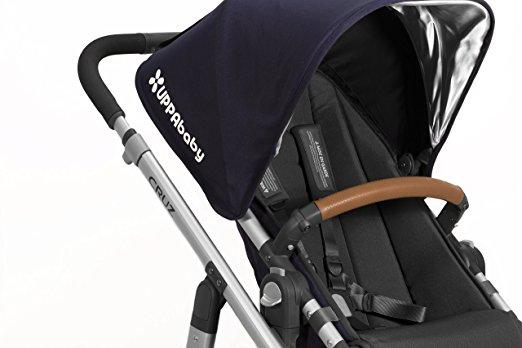 UPPAbaby Leather Bumper Bar Cover for VISTA, CRUZ, and RumbleSeat (2015 - LATER) in Saddle