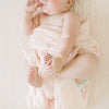Muslin Swaddle in Pink Mudcloth by Loulou Lollipop