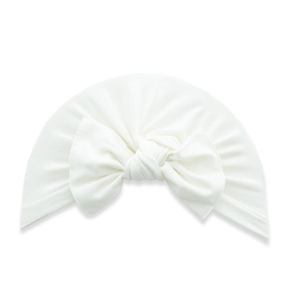 Knot Turban in Cream by Baby Bling