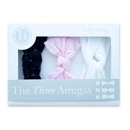 The Three Amigas in Pink, Black Dot and White by Baby Bling
