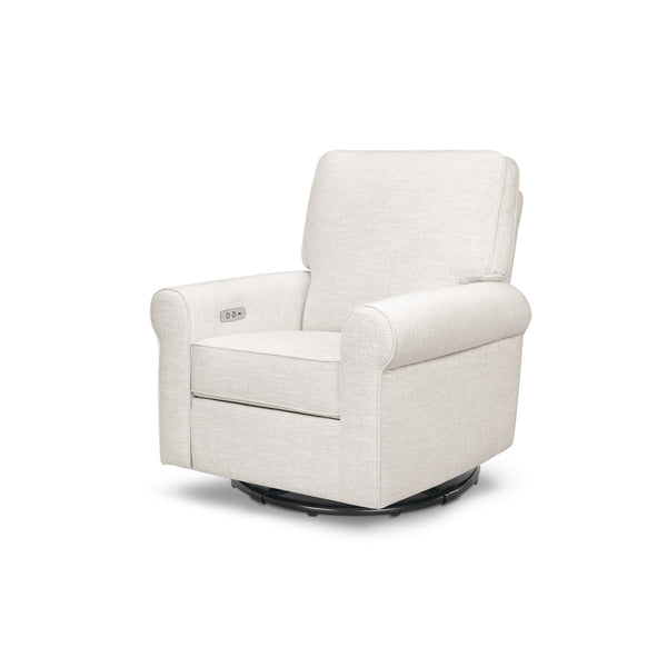 Monroe Pillowback Power Recliner in Oatmeal LInen