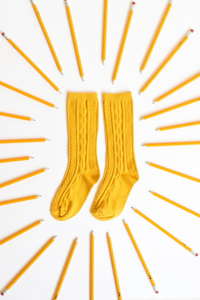 Little Stocking Co. | Mustard Knee High Socks