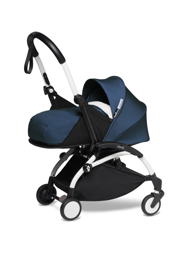 BABYZEN YOYO² Complete Stroller with Newborn Color Pack Fabric Set in Air France with White Frame